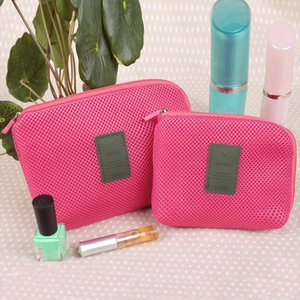 eTya Fashion Travel Cosmetic Bag Women Casual Makeup Case Pouch Toiletry Zipper Solid Large Capacity Wash Organizer makeup Bags
