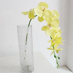 93 cm Düğün Süslemeleri Yapay Çiçekler Tek Plastik Ipek Çiçek Polyester Elyaf Kelebek Orkide Çiçekler Ev Partisi Sıcak Satış 4 9SM G2