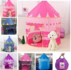 Çocuklar Oyuncak Çadırlar Çocuk Katlanır Oyun Evi Taşınabilir Açık Kapalı Oyuncak Çadır Prenses Prens Kalesi Oyun Evi Çadırı KKA8295