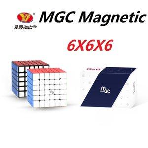 Original YJ MGC 6 Cubo 6x6 Magnetic Magic Cube Yongjun MGC 6 ímãs Cubo Magique Puzzle Velocidade Cubos Brinquedos Educativos para Crianças 201219