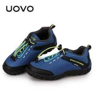 UOVO Детский гоночный стиль дышащий для маленьких мальчиков девочек детей кроссовки осенние туфли EUR28-35 201112