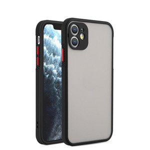 Matte Phone Case for iPhone 12 11 XS MAX XR 7 8 Plus Clear Hard Case Shockproof Transparent Hard Case Armor Cover