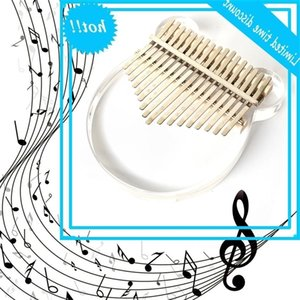 Transparent 17-Tape Kalimba Instrument Acryl Duim Finger Piano African Sanza Mbira with Doos Tuning Hammer For Beginners Kids