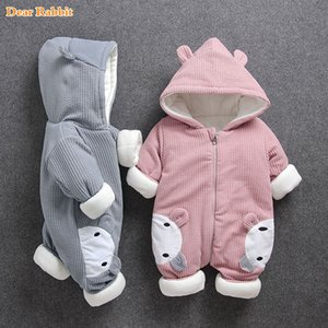 2020 New Russia Baby costume rompers Clothes cold Winter Boy Girl Garment Thicken Warm Comfortable Pure Cotton coat jacket kids Z1121
