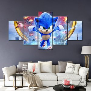 Sonic the hedgehog Hd game poster decoration Bedroom room wall painting decorative picture Christmas gift Household soft outfit Z1202