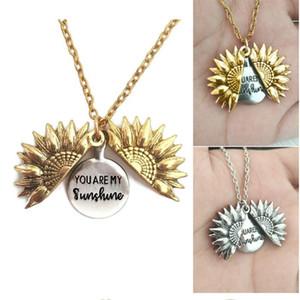 Sunshine Best Friends Collares de regalo de San Valentín Collar Antiguo Gold Gold Locket Colgante Colgante Para Mujeres WY1130