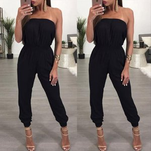 2018 New Summer Women Sexy Off Shoulder Ladies Clubwear Playsuit Bodycon Party Jumpsuit Romper Trousers Drop Shipping