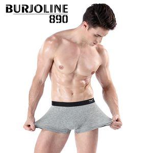 Burjoline erkek orta bel konfor sorunsuz boksör kaburga erkek iç çamaşırı boksörler şort sp2222