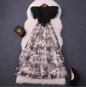 1130 XL 2021 Robe de piste de la pièce de piste Même style robe à manches courtes robe de cou