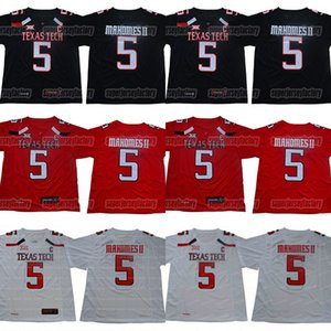 5 Patrick Mahomes II Texas Tech Raider Raider NCAA College Football Jerseys Double costado Nombre y número Alto Custiva Fast Shipping