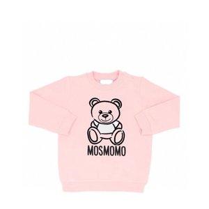Childrens 2020FW Sweatshirts Boys Girls Bear and Letter Print Pullovers Kids Sweatshirts Kids Fashion Style Trendy Long Sleeve Tops Hot Sale