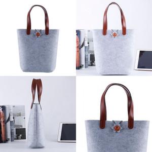 Felt Shopping Bag Color Non Woven Fabrics Handbag Reticule Women Fashion Simplicity Wear Resistant 9fl UU