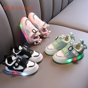 BAMILONG Kids Light Up Shoes Toddler Baby Sneakers Luminous Child Colorful Glowing Shoes Breathable Casual Girls Sneakers Y215 Y1117