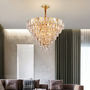 New design crystal chandelier lighting for foyer bedroom dining room kitchen luxury stainless steel chandeliers lamps modern pendant lights