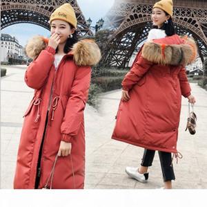 Winter Holiday Parkas Fur Hood Warm Puffy Baggy Parka Coat Cotton Windbreaker Jacket Fashion Outerwear Streetwear Drawstring Women's Pa