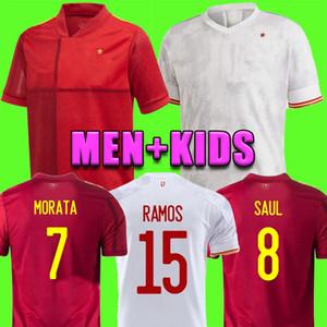 2020 2021 España Rodrigo Paco Alcacer İspanya Futbol Jersey Morata Ramos Sarabia Thiago Iniesta Futbol Futbol Gömlek Camisetas de Futbol
