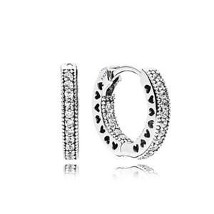 Brand New Pandora Tipo 925 Sterling Silver Atacado Classic Diamante Brincos8-20days Entrega Rápida Feriado Brincos Presente de Férias