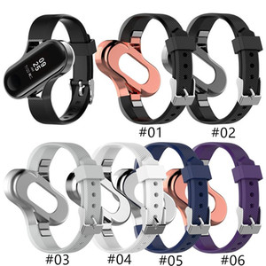 2021 DZ03 Fashion New Silicone Strap Metal Frame Case for XIAOMI MI Band 3 4 Fashion Design bracelet Miband 4 Strap