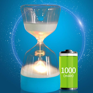 LED Hourglass Night Lamp Home Decor Color Change Party Lights Soft Baby Child Sleeping Smart Charge USB Bedroom Bedside Lamp Gift OWE3060