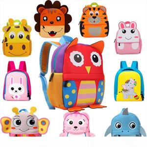 2019 New 3D Children School Bags for Girls Boy Children Backpacks Kindergarten Cartoon Animal Toddle Kids Backpack for 2 5 years
