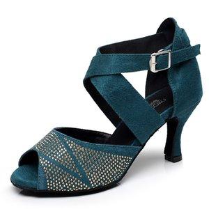 في الهواء الطلق قاعة الحنفية تسولي السالسا، والأحذية الاجتماعية الراقية، الكعوب ذات الكعب العالي، أحجار الراين، النساء اللاتينية، أحذية الرقص. MW2U.
