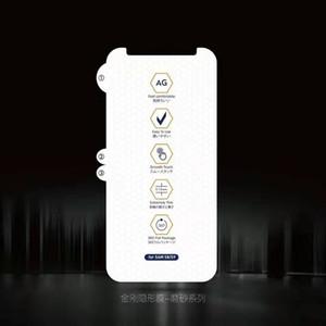 Matte Soft Hydrogel Film Protecteur d'écran pour iPhone 12 Mini 11 Pro Max x XS XR 8 7 6S Plus aucun emballage