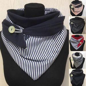 Fashion Women Scarve Soild Stripe Button Soft Wrap Casual Warm Scarves Shawls fashion Leisure Comfortable soft personality