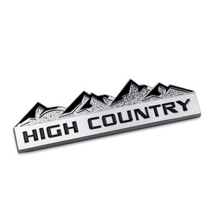 12.4 cm High Country Snow Mountain Trail Calificado Bar Bar Barge Chrome Metal Car Styling Reembols Logo para Jeep Wrangler Grand Cherokee