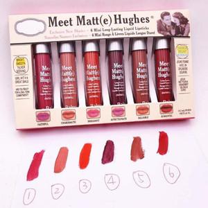 고품질 6pcs / 세트 Matt (e) 휴즈 립스틱 루즈 Leve Listicks Lip Gloss Kit Lipgloss 화장품 Maquiagem 무료 배송