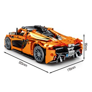 SY building block assembled building block racing car simulation model, pull back compatible with  boy puzzle 950 particles 8602