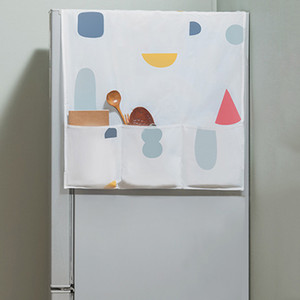 PEVA Холодильник висит Сумка для хранения Духовка Водонепроницаемый пылезащитный Крышка Креативный напечатанный холодильник Организатор Организатор сумка Кухонная кухня PPD3349