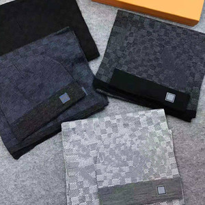 21SS Hohe Qualität Hutschal Set für Männer Frauen Winter Wollschal Design Schal Hut Wolle Beanie Wrap Schal