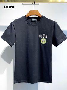 DSQ PHANTOM TURTLE 2021SS New Mens Designer T shirt Paris fashion Tshirts Summer DSQ Pattern T-shirt Male Top Quality 100% Cotton Top 1103
