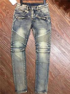 New luxury Mens Designer Jeans Slim-leg Jeans Holes Vintage Ripped Trousers Cowboy Famous Brand Classic Designer Hip Hop Biker Deam Pants