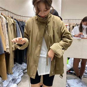 Fleece Parka Workwear Short Coat for Women 2020 New Korean Style Padded Cotton Jacket Winter Loose Lapel Windbreaker Tide