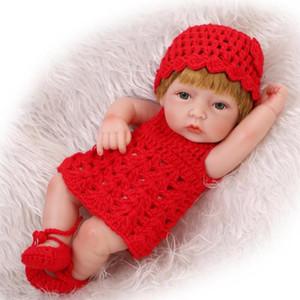 10 дюймов 26 см прекрасных мини Reborn куклы дети мальчик девочка реалистичные жизни полная винила ручной работы новорожденного детская кукла для детей