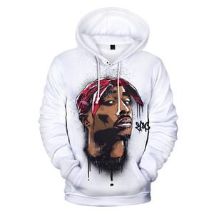 남성용 스웨터 후드 남자 / 여성 Tupac Amaru Shakur Defiler Cap Sportswear Gangsta Rap 2Pac Hoodie