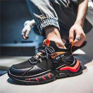 2021Fashion Cool Blade Hombre Zapatos casuales Tendencia transpirable Zapatillas de deporte azules Zapatos Masculinos Encaje para caminar Diseño Zapatillas Hollow # OO2A