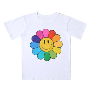 Neue Herren Stylist T-shirt Männer Frauen Hohe Qualität Blumen Drucken Schwarzes blaues T-Shirt Hip Hop T-Shirts Größe S-XL