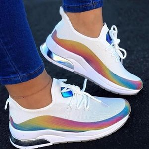 New Sneakers Women Casual Shoes Mesh Air-Cushion Flat Anti-Slip Women Sneakers Outdoor Trainer Female Zapatos De Mujer Shoes 201202