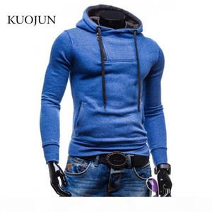 Wholesale-PKORLI 2016 New Arrival Mens Hoodies side zipper design Pullover Male Sweatshirt Jacket Poleron Hombre XXL
