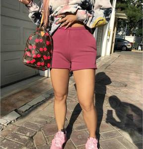 Women High Waist Shorts Casual Comfort Short Pant Female Autumn Winter Solid Sweat Short Sweatpant Elastic Cotton Sports Trouser