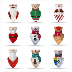Christmas Face Shield Bandana Face Mask Outdoor Sports Bandana Mask Magic Headscarf Headband Visor Neck Gaiter Christmas Decoration GWA2702