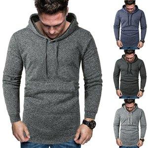 21FW Soild Color Herren Hoodies Mode mit Päckchen Langarm Herren Sweatshirts Neuer Designer Mens Kleidung