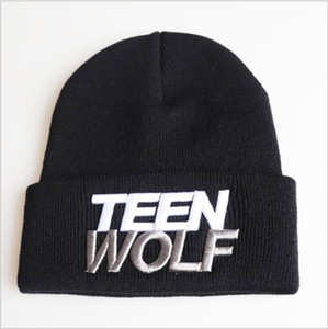 New Three Dimensional Embroidered Knitted Hat Of Young Wolf In Autumn And Winter