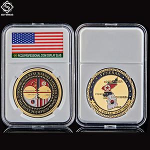 Korean War Veteran Challenge Coin US 24k Gold Plated Military Freedom Commemorative Coin W Pccb Box