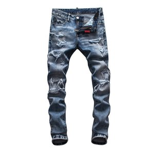 2021 mens designer jeans Pocket Designer Mens Pants Fashion Distrressed Washed Teenagers Jeans New Arrivals Hip Hop mens slim fit jeans
