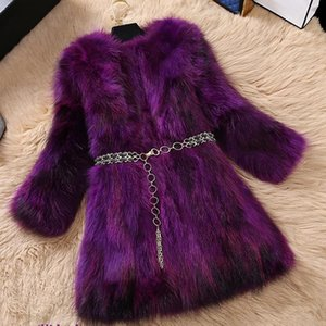 Leiouna 2020 Fur Coat Office Lady Top Selling Fur Jacket Women O-Neck High Quality Genuine Overcoat Female Cothes