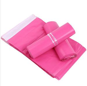 100pcs / lot Rosa Poly Mailer 10 * 13 Zoll Express Bag 25 * 35 cm Mail Taschen Umschlag / Selbstklebende Dichtung Plastiktüten Taschen Beutel