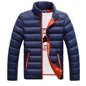 Wholesale- Autumn Winter Mens Parka Jacket Cotton Warm Thick Solid Black Color Coat For Men Outwear Clothing M-5XL